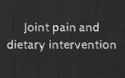 Joint pain and dietary intervention